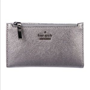 Kate Spade New York Leather Metallic Wallet.